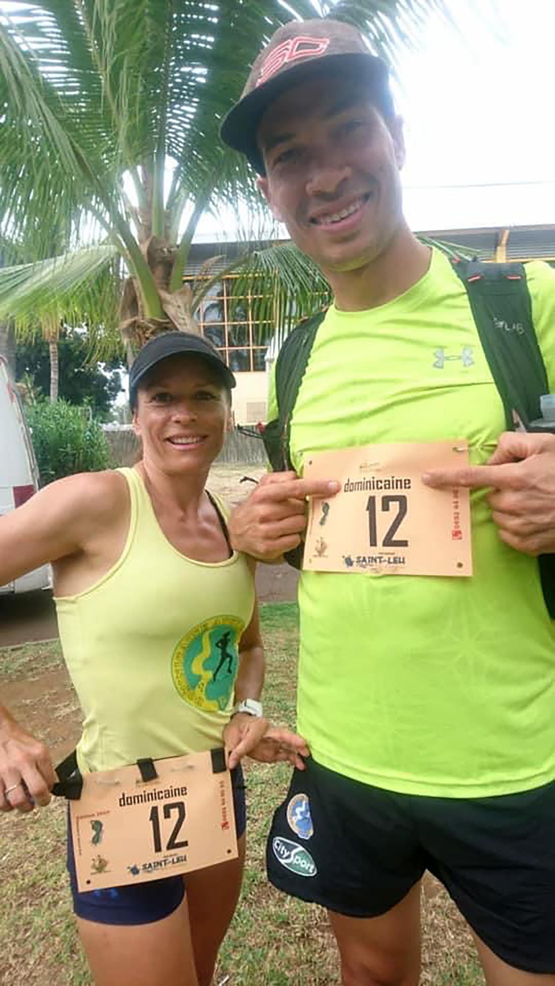 Nicolas et Julie Rivière de la Dominicaine Athlétisme
