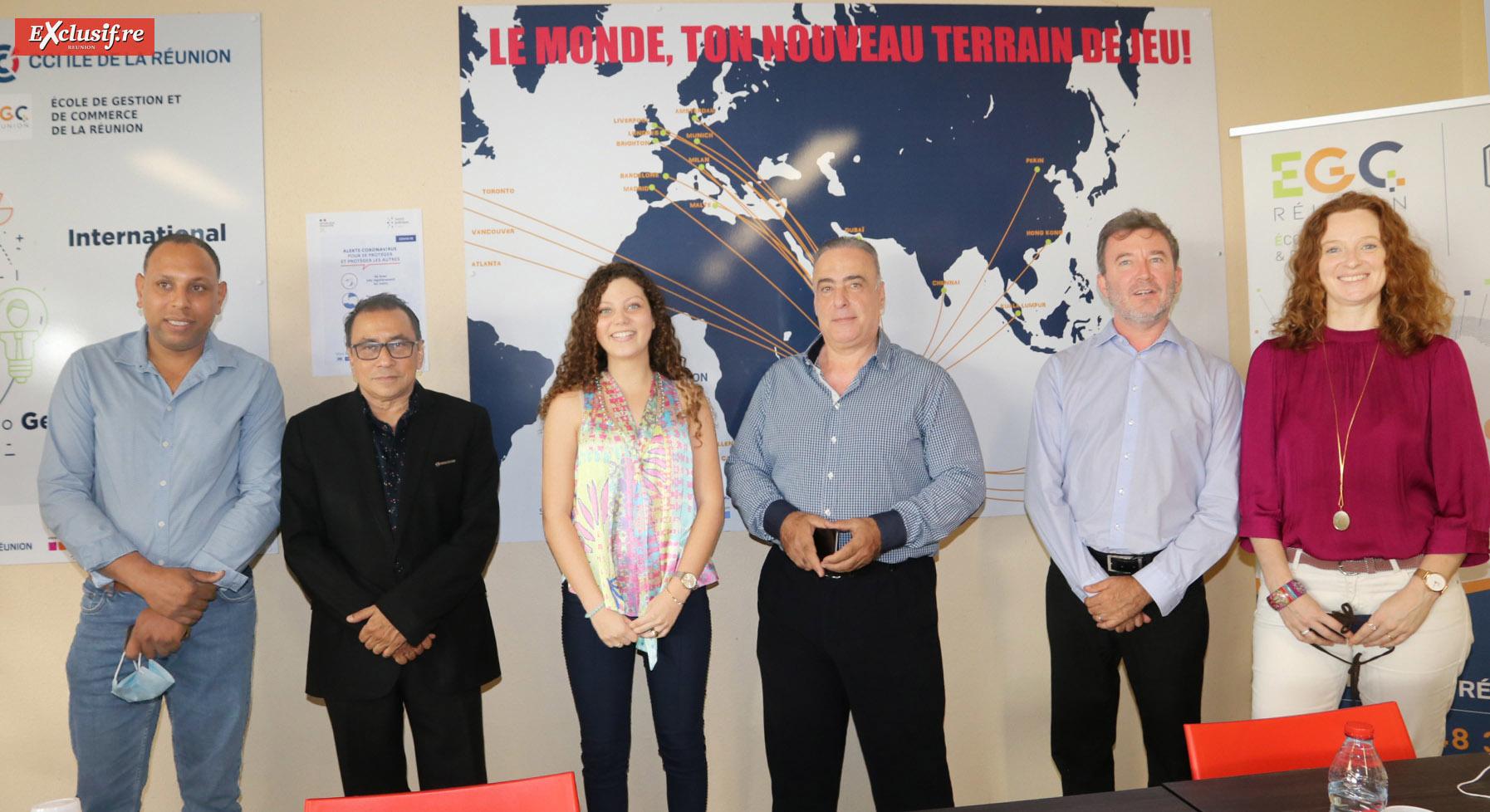 Pierrick Robert, Ibrahim Patel, Lisa, étudiante, Mansoor Zarif, et Philippe Bocquet