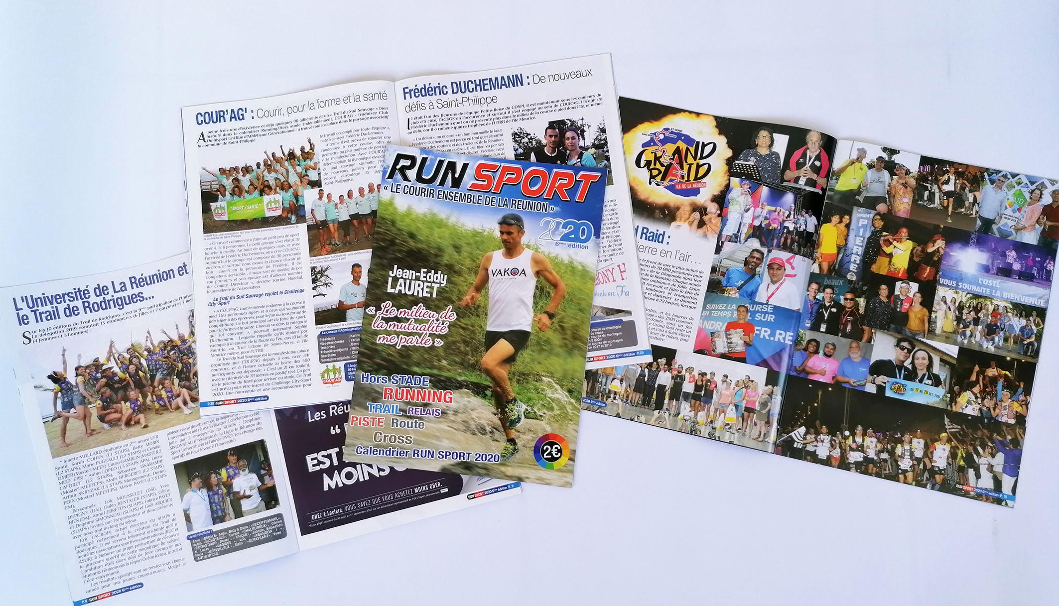 Run-Sport 2020 comporte plein d'infos sur la course à pied à La Réunion et à Maurice