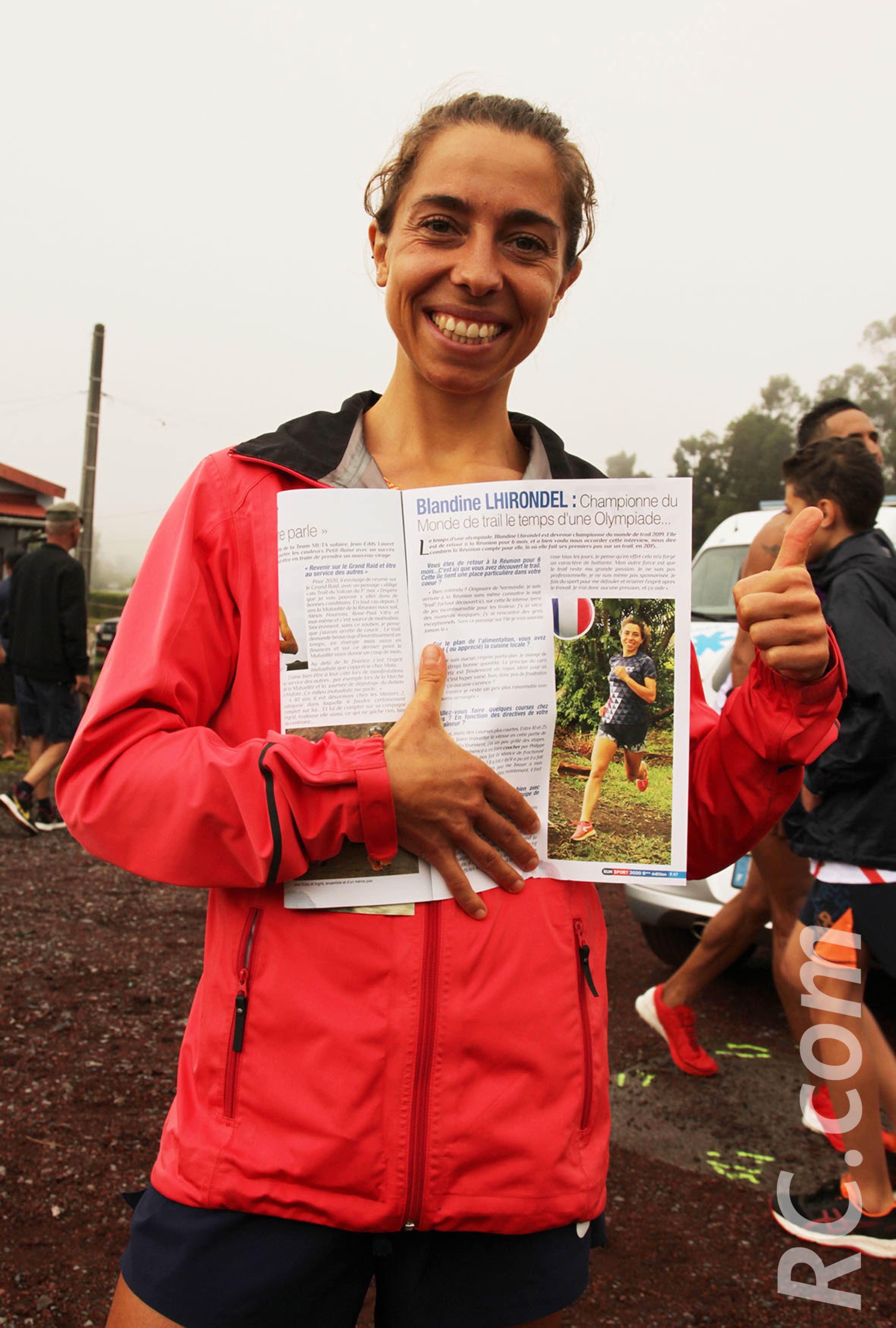 La championne du monde de trail, Blandine Lhirondel est rentrée en métropole avec un Run-Sport entre les mains