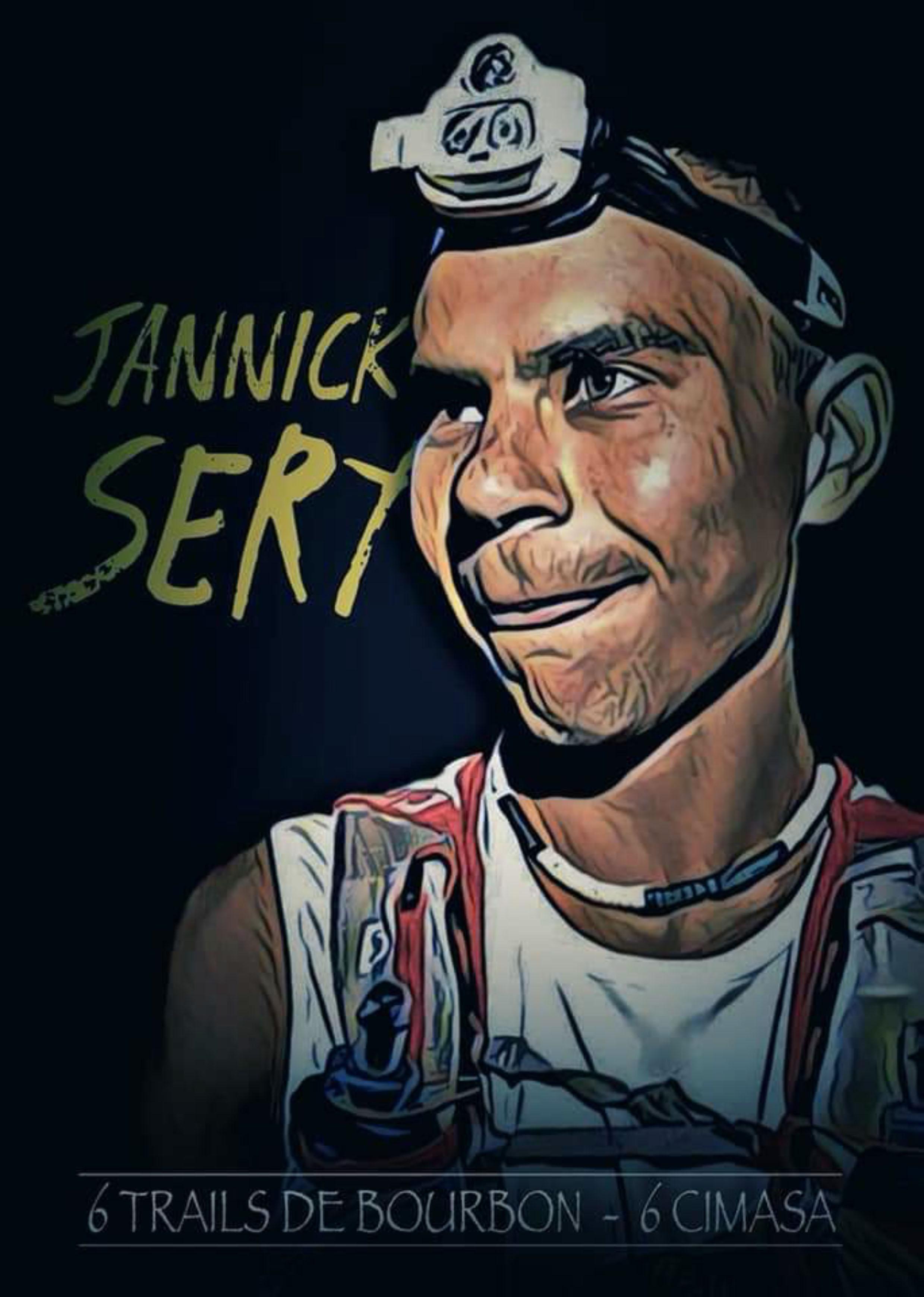 Jannick Séry croqué par le talentueux infographiste Mel Ja qui est lui aussi un passionné de trail