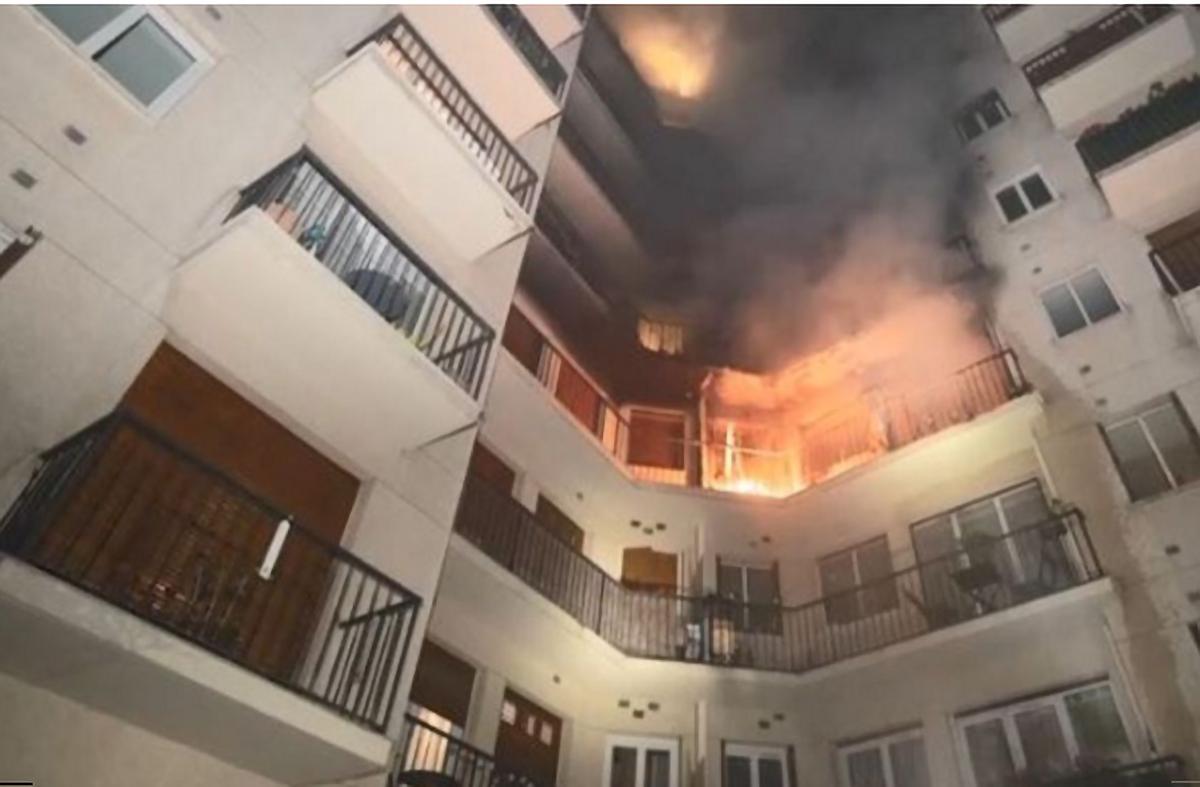 L'incendie a débuté au 3ème étage...