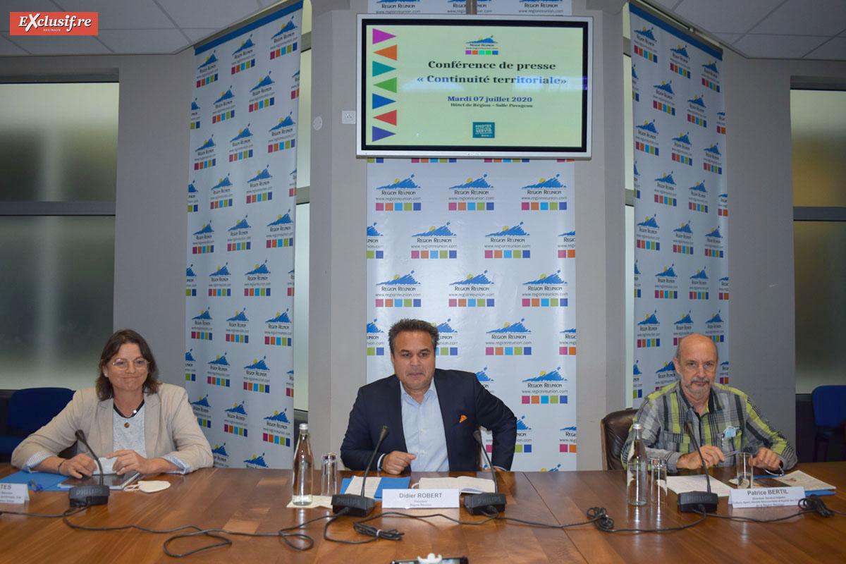 Yolaine Costes, Didier Robert et Patrice Bertil