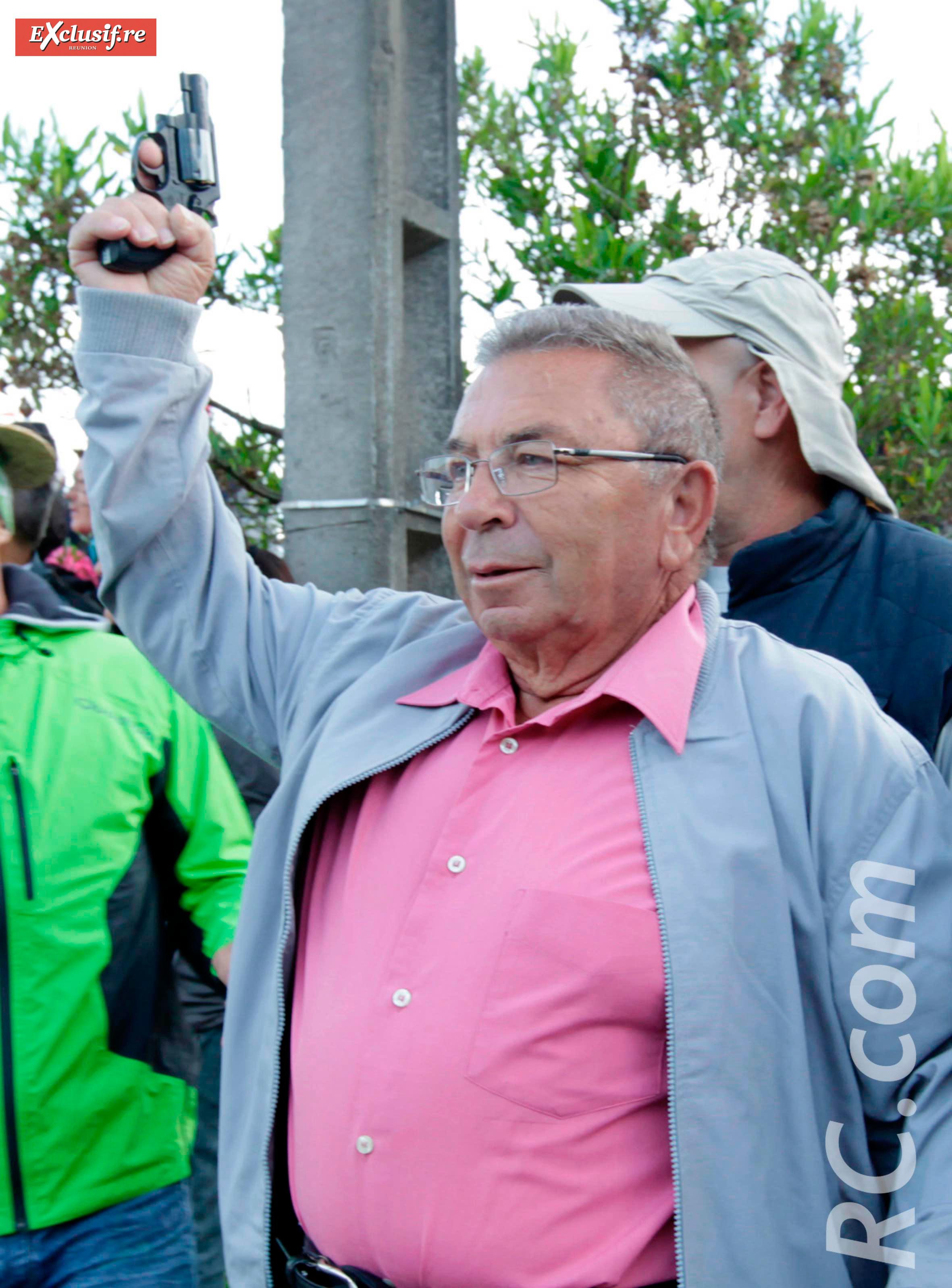 Jacques Picard avait donné le départ du Trail du Volcan 2015 en tant que parrain de la manifestation