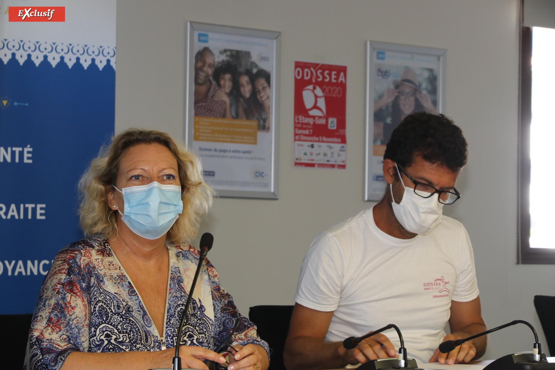 Fabienne Couapel, conseillère régionale, et Luc Bizouerne, directeur de Run Odysséa