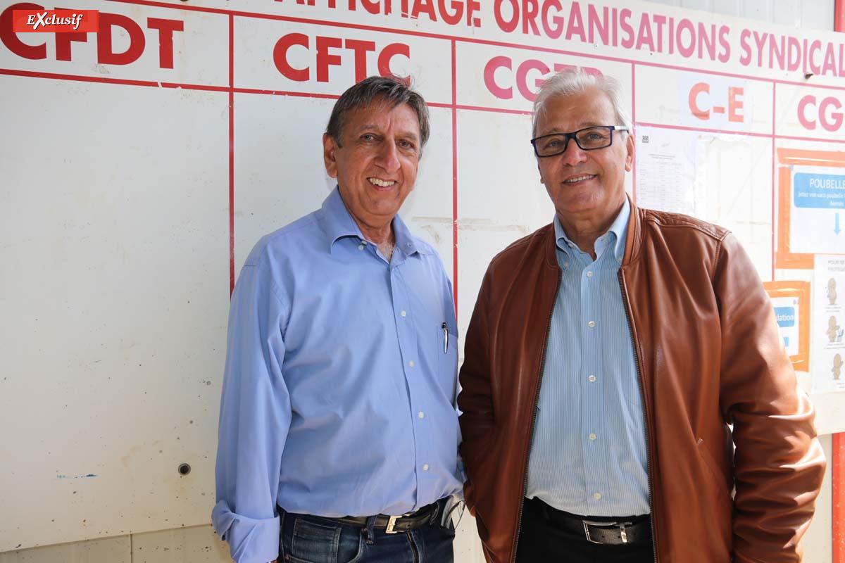Aziz Patel d'Exclusif Réunion, et Maurice Gironcel, président de la Cinor
