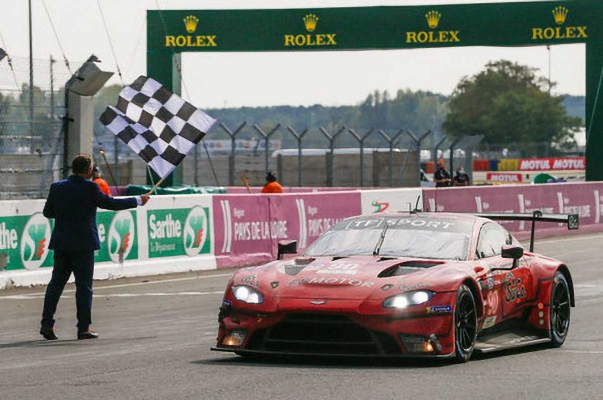 En LMGTE Am, victoire de TF Sport #90 (Aston Martin Vantage AMR) de Yoluc-Eastwood-Adam
