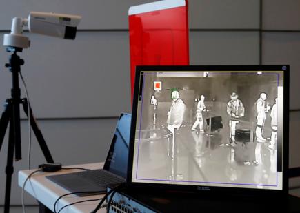 Comme dans beaucoup d'aéroports, Roland Garros est désormais équipé en caméras thermiques...