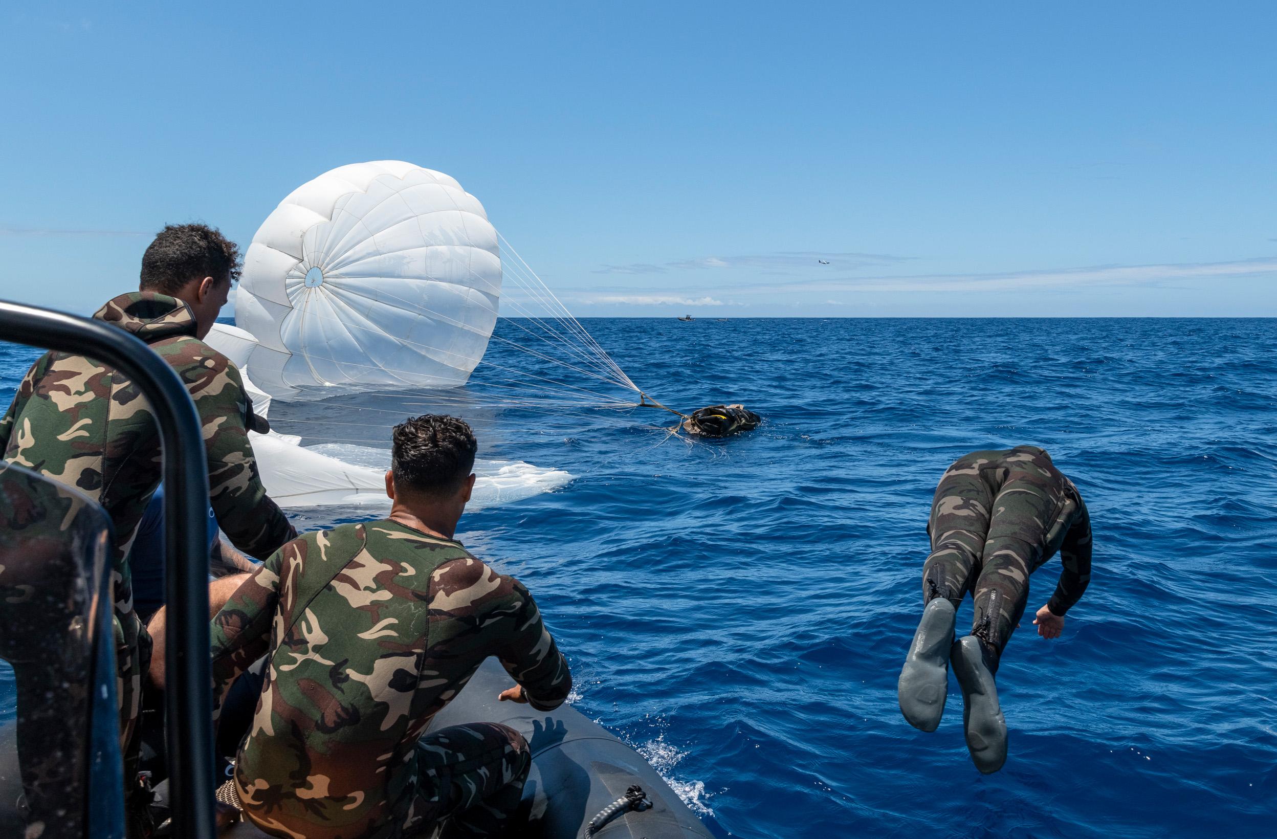 FAZSOI: exercice d'infiltration maritime avec le 2e RPIMa