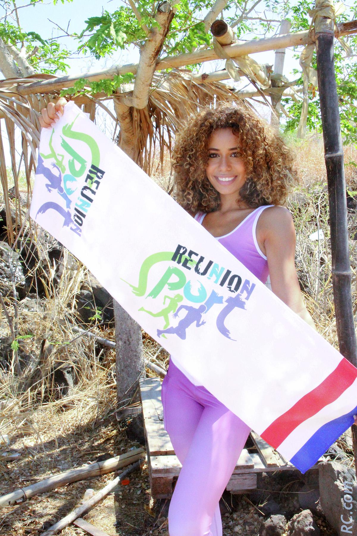 Lyna Boyer s'est engagée à défendre les couleurs de La Réunion