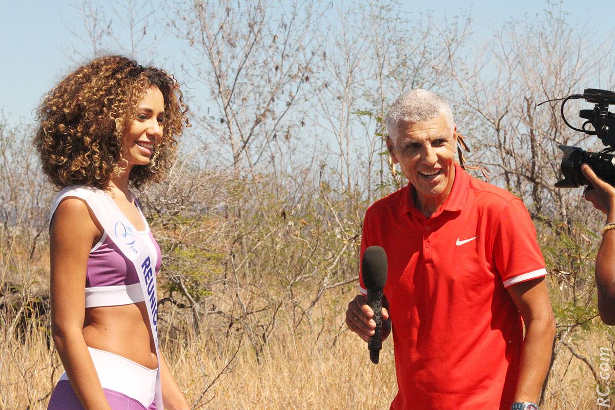 Champion de course à pied, Jean-Louis Prianon a réalisé –sans trembler- l'interview de la nouvelle ambassadrice de charme de La Réunion