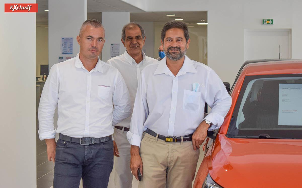 François Boyer, Idriss Ahmod et Amine Dessaye, commerciaux Opel