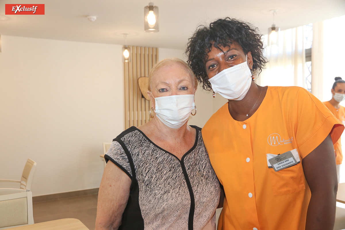 Madame Aude et Sam M., aide-soignante de l'EHPAD Aude