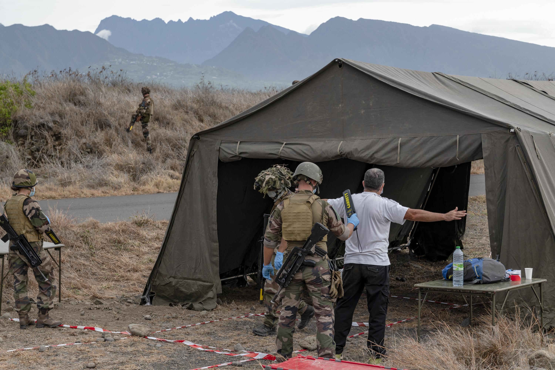 Les soldats en action