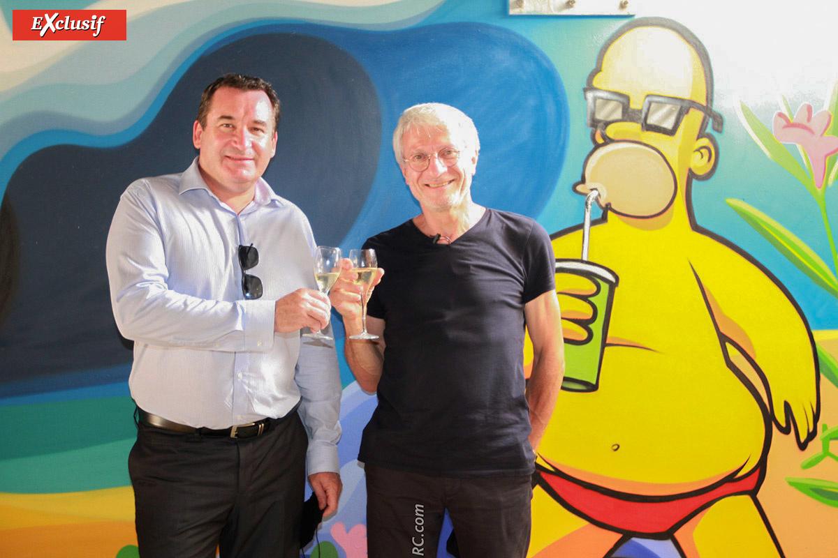 Pascal Turonnet, directeur général du groupe Exsel, et Christian Bertetto