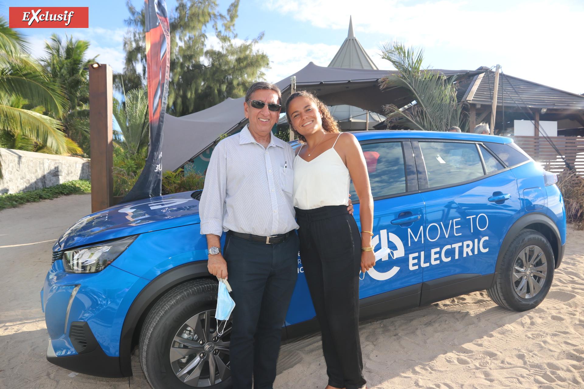 Aziz Patel, d'Exclusif Réunion, et Alice Lemoigne