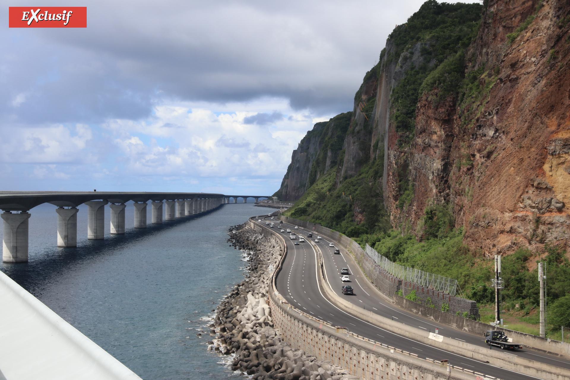 L'actuelle route est proche de la falaise...