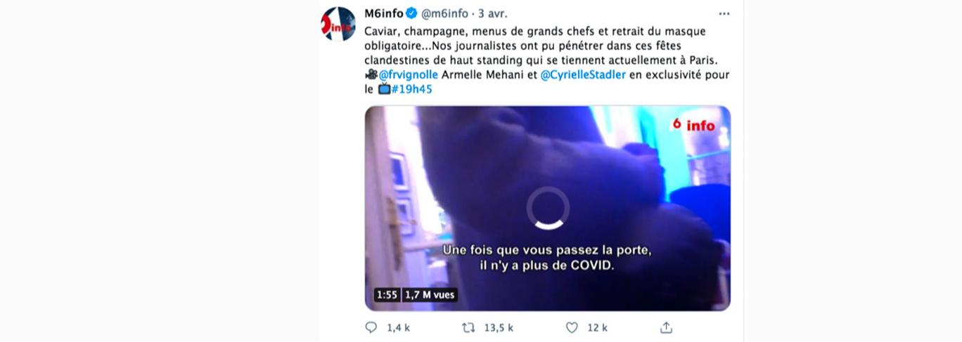 M6 a diffusé le sujet dans son Journal Télévisé et sur ses réseaux sociaux