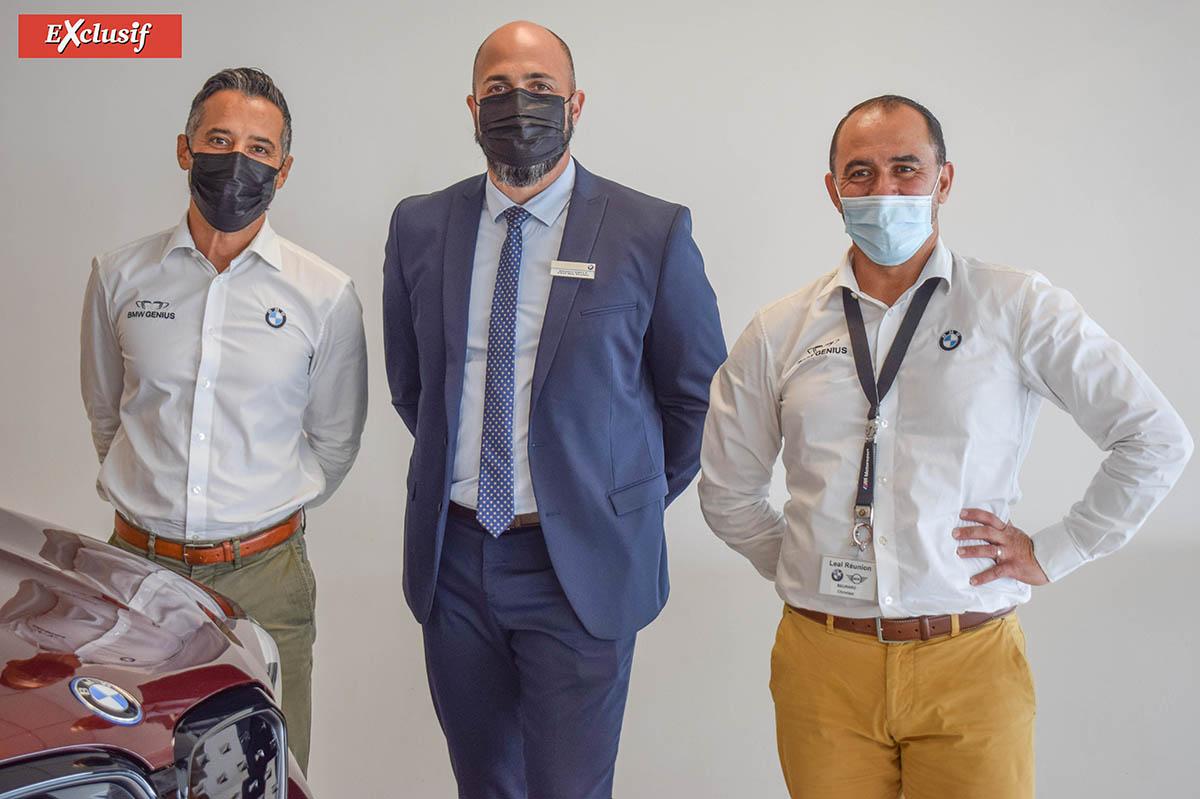 Ridwan Barabhai, Damien Vally, et Christian Beurard