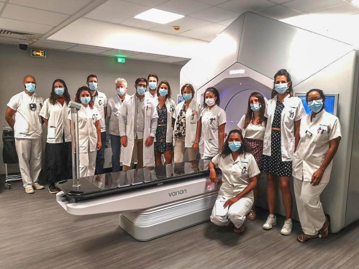 L'équipe de radiothérapie du CHU La Réunion