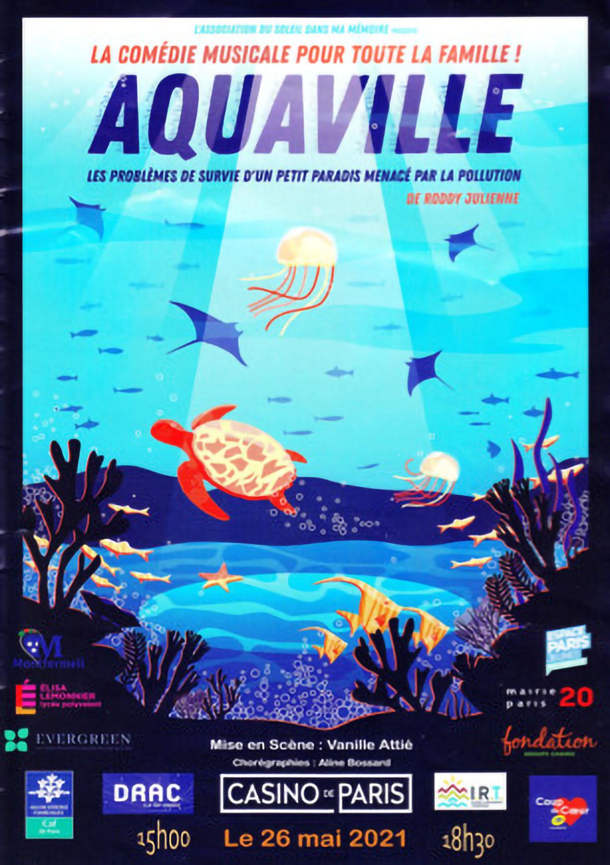 """""""Aquaville"""", comédie musicale mise en scène par Vanille Attié au Casino de Paris"""