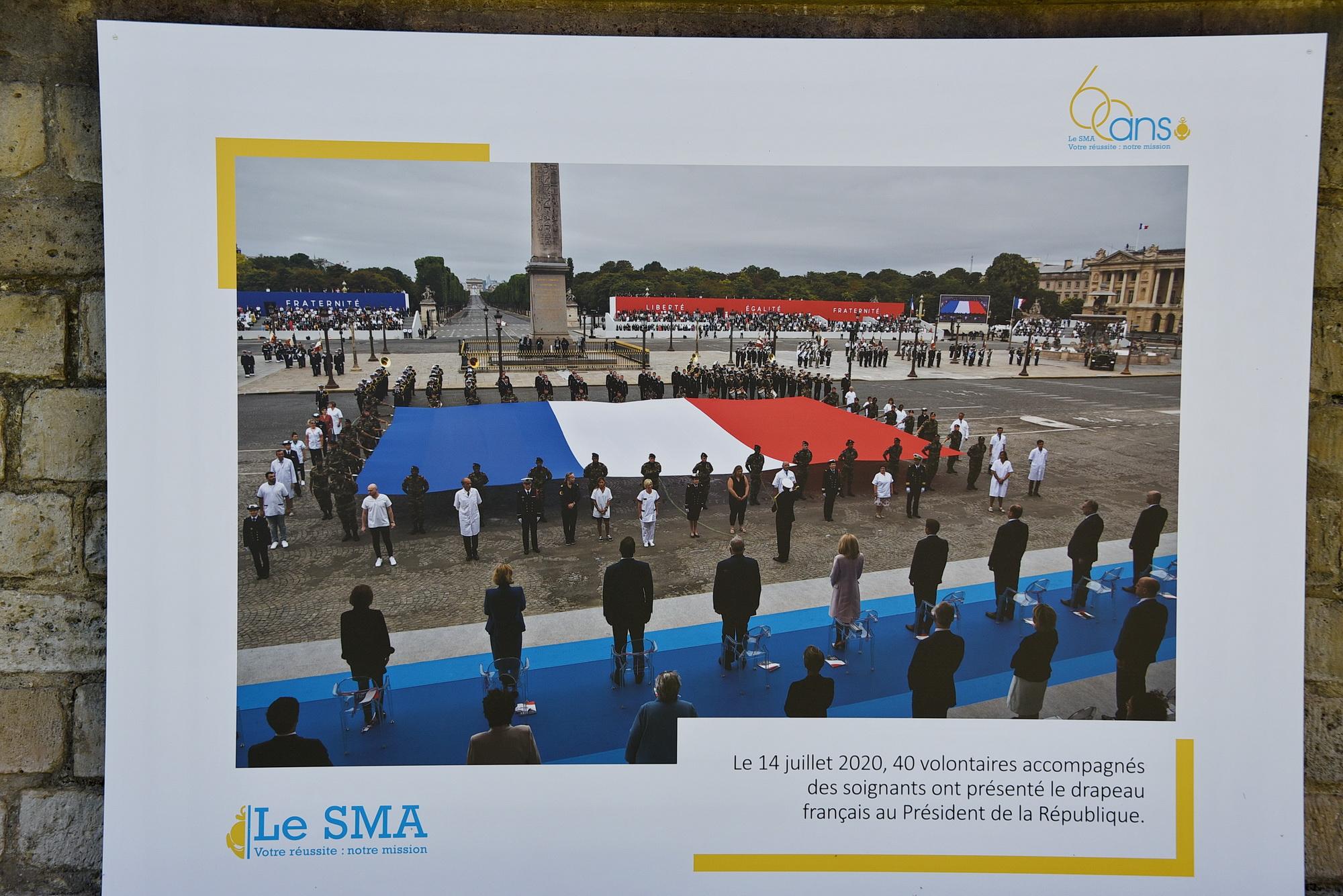L'an dernier, un détachement du SMA avait rendu les honneurs devant la tribune présidentielle, lors du défilé du 14 juillet