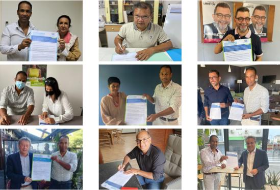 9 candidat.e.s aux régionales avaient signé la Charte au moment de la conférence de presse