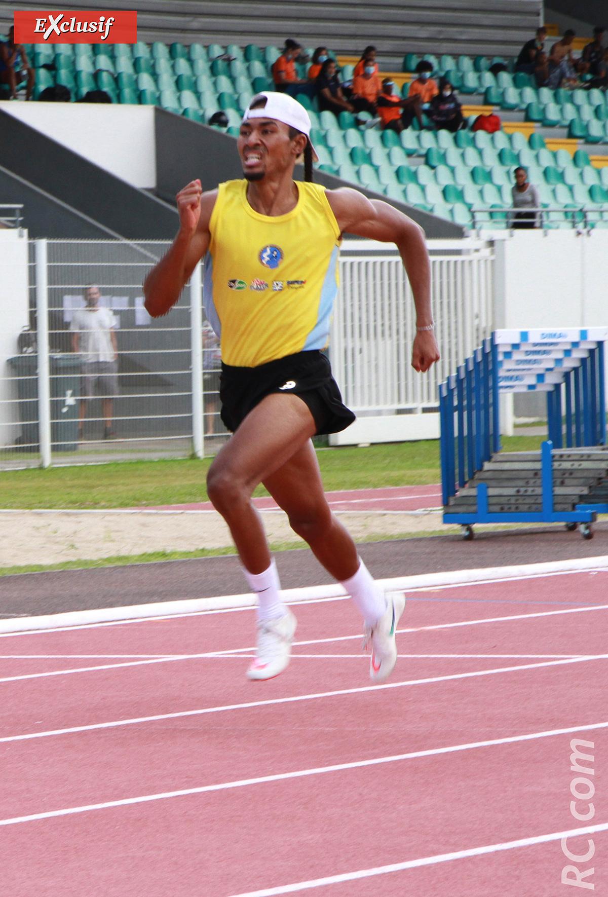 Cédric Lacouture a doublé la mise, sur le 200m et le 400m