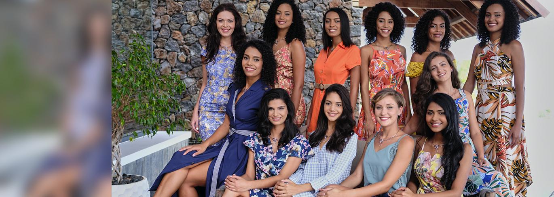 Les 12 candidates Miss Réunion 2021: l'aventure a débuté!