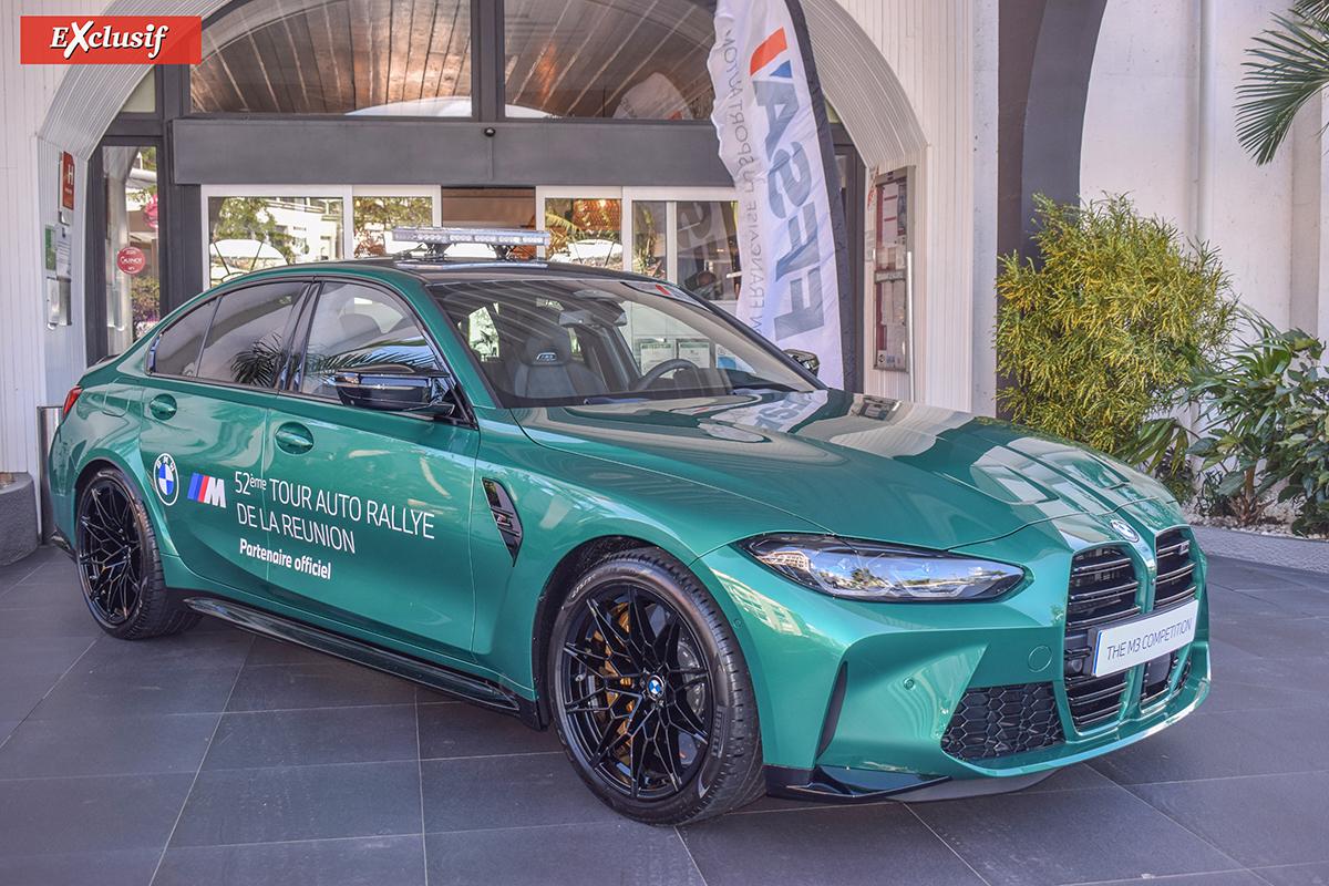 Une superbe BMW trônait devant l'hôtel Créolia où a eu lieu la conférence de presse du Tour Auto. On la verra peut-être parmi les voitures ouvreuses