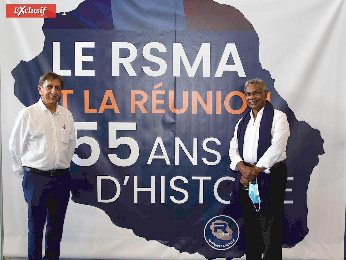 Aziz Patel et René-Paul Victoria, deux anciens du SMA