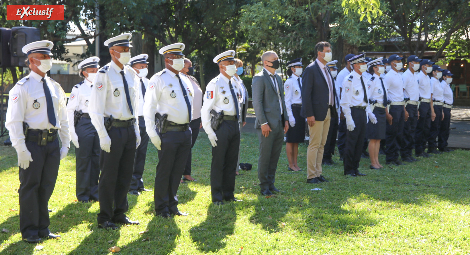 Cérémonie du 14 juillet au Jardin de l'Etat: photos