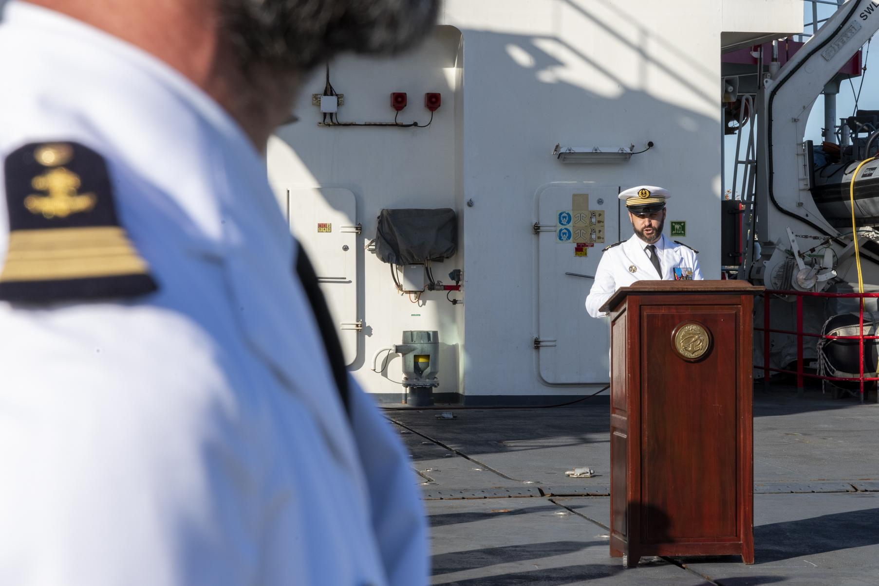 Marine Nationale: trois passations de commandement d'un coup!