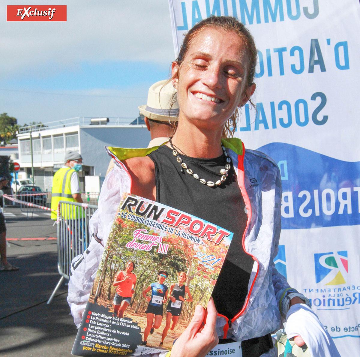 Victoria Devouge a fait la Une de Run Sport 2021, magazine disponible chez Trail Sport à Saint-Denis et à Saint-Pierre