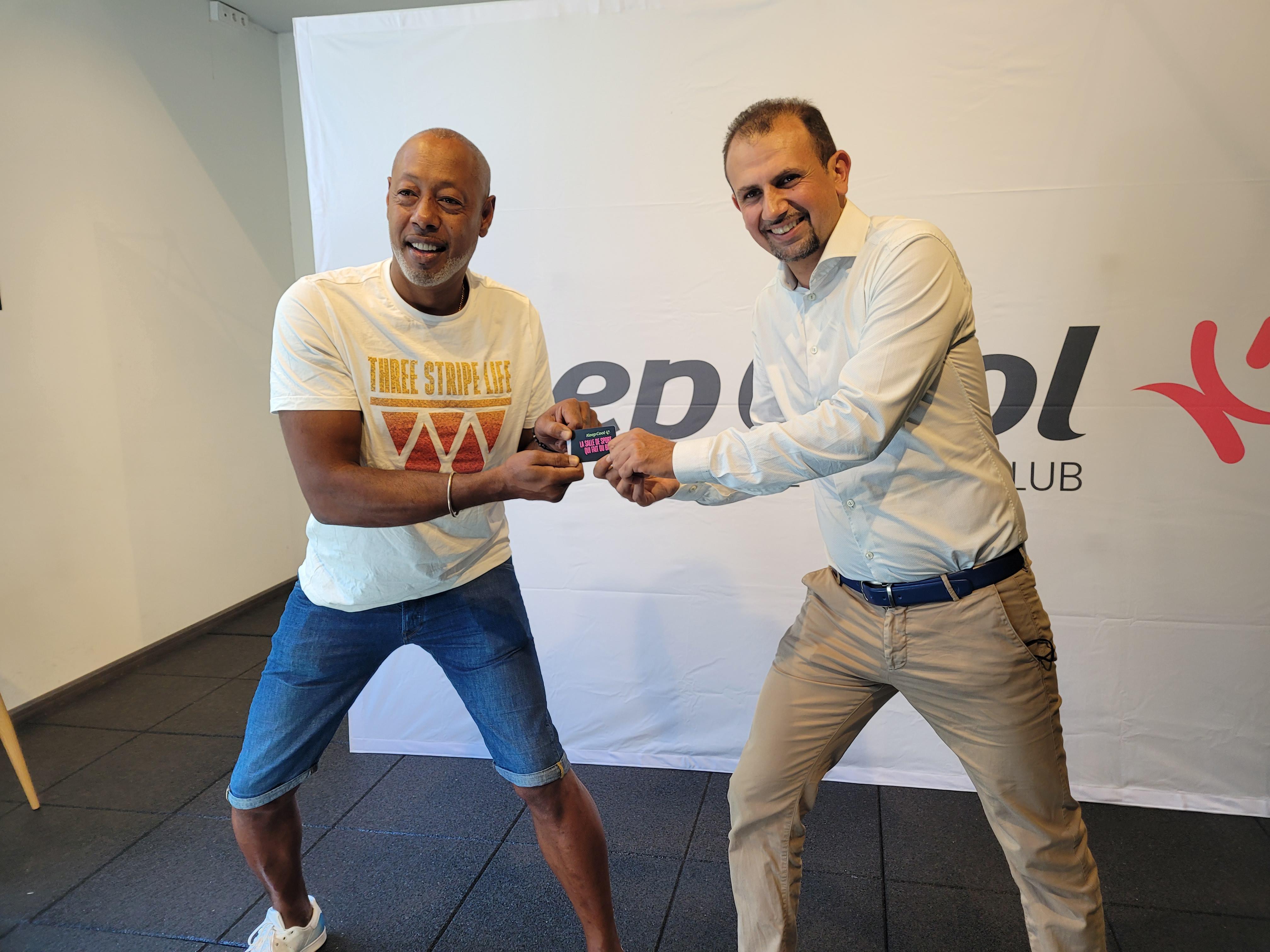 Jackson Richardson et David Amiouni, président de Keepcool