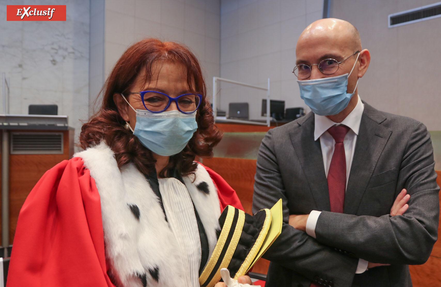 Emmanuelle Barre, avocate générale, et Didier Herry, procureur financier près les Chambres Régionales des Comptes de La Réunion et de Mayotte