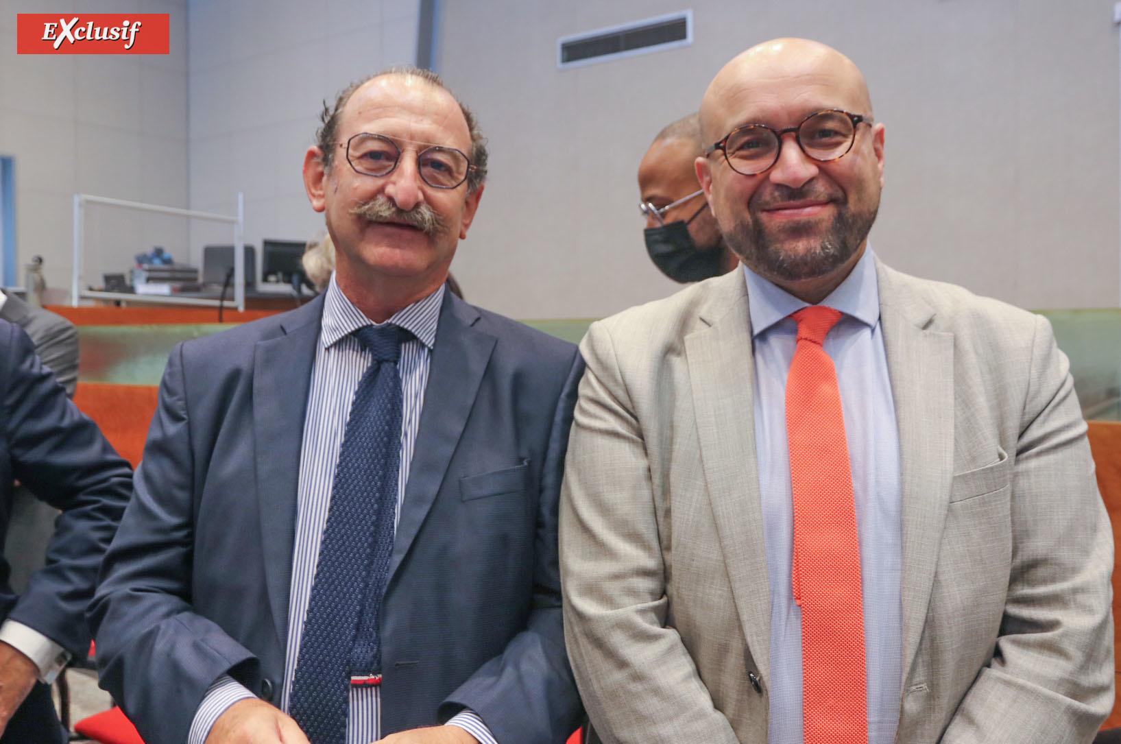 Joaqin Cester, directeur régional des Finances Publiques, et Ottman Zaïr, directeur de cabinet du Préfet de La Réunion