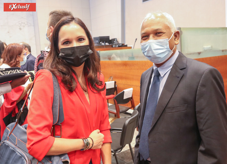 Karine Lebon, députée, et Jitendra Nath Majhi, Consul Général de l'Inde