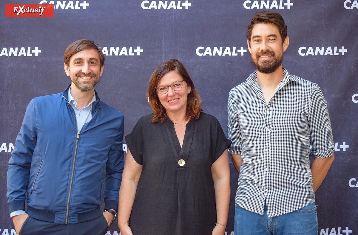 Frank Nicolas, consultant, Samantha Nahama, et Charles Lauret, chargé de communication Canal+ Réunion