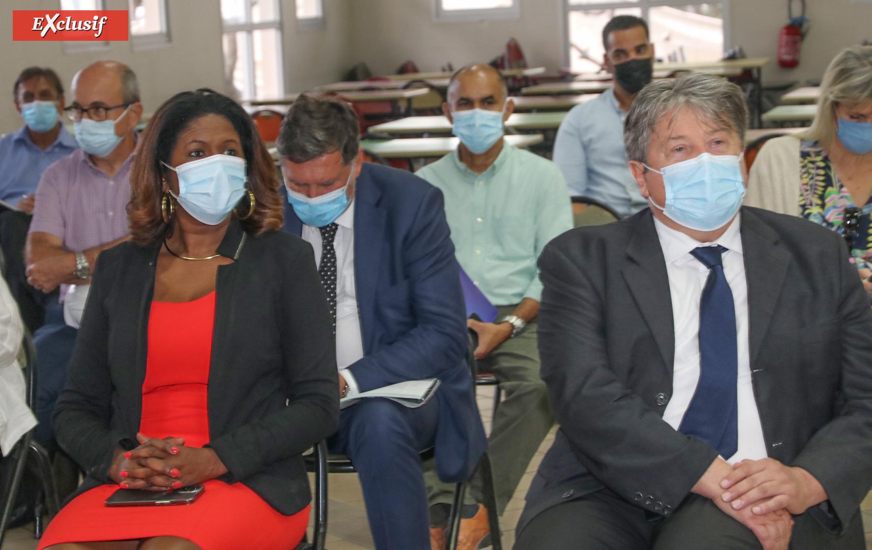Nathalie Elimas, Secrétaire d'Etat, visite le futur internat du Lycée Brassens au Moufia