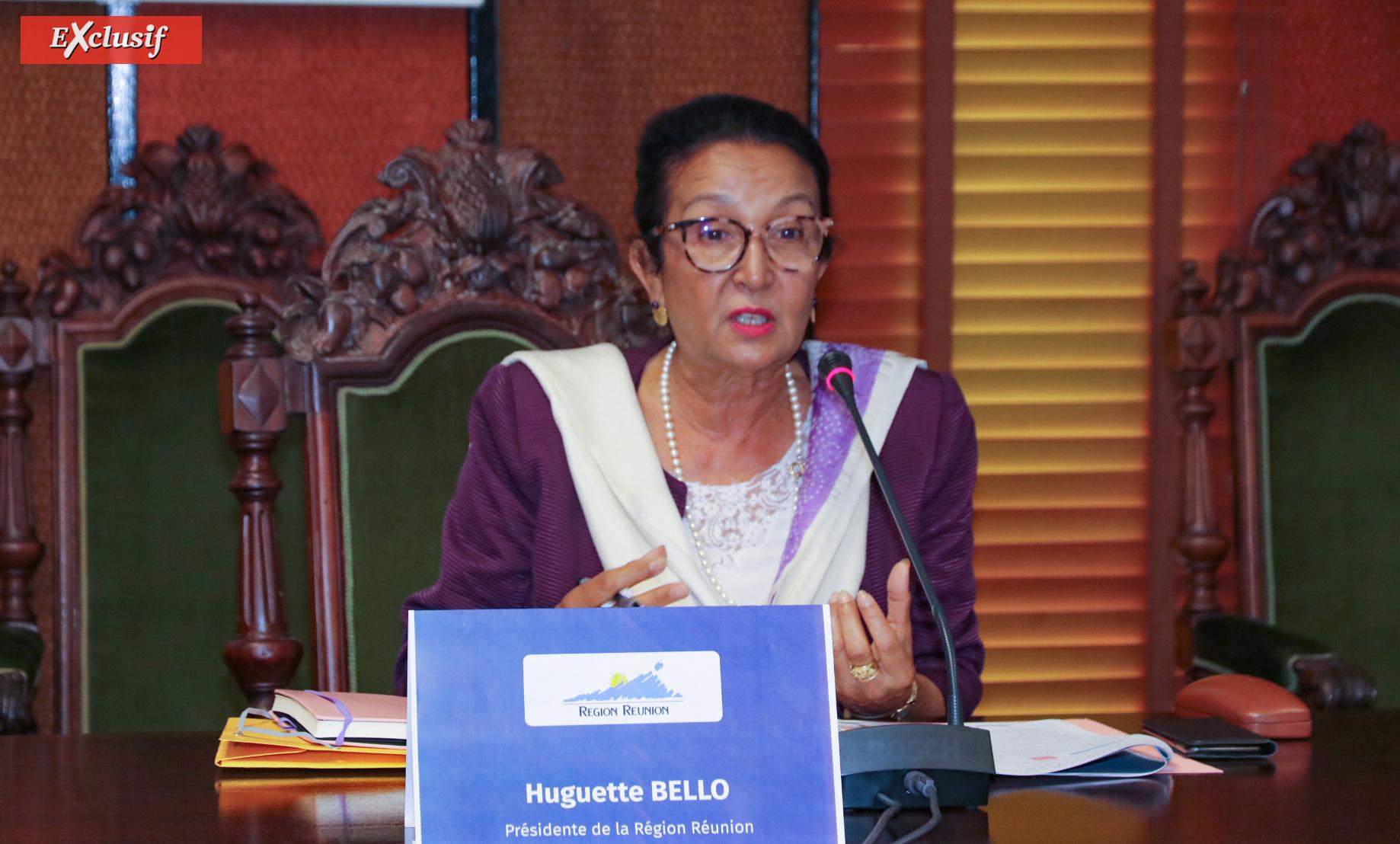 Huguette Bello, présidente de la Région Réunion