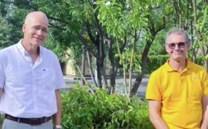 Professeur Von Theobald, président, et le docteur Philippe Ocquidant, vice-président