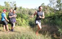 Une belle course sur un beau parcours. Ici Teddy Parmentier est le premier à atteindre le Belvédère de l'Eden
