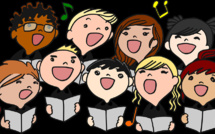 Les élèves sont pressés de chanter...